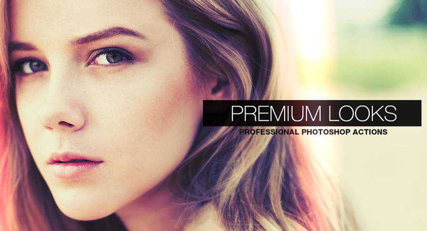 Premium Looks light leak effects photo free photoshop actions