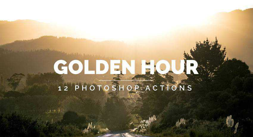 the golden hour effects photo free photoshop actions