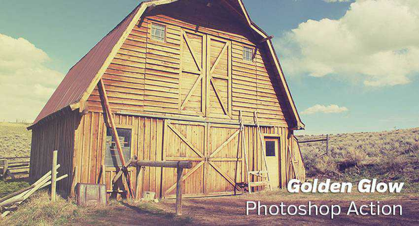 Golden Glow golden hour effects free photoshop actions