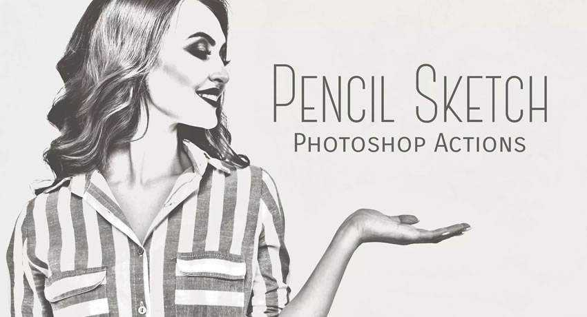 pencil sketch effects free photoshop actions