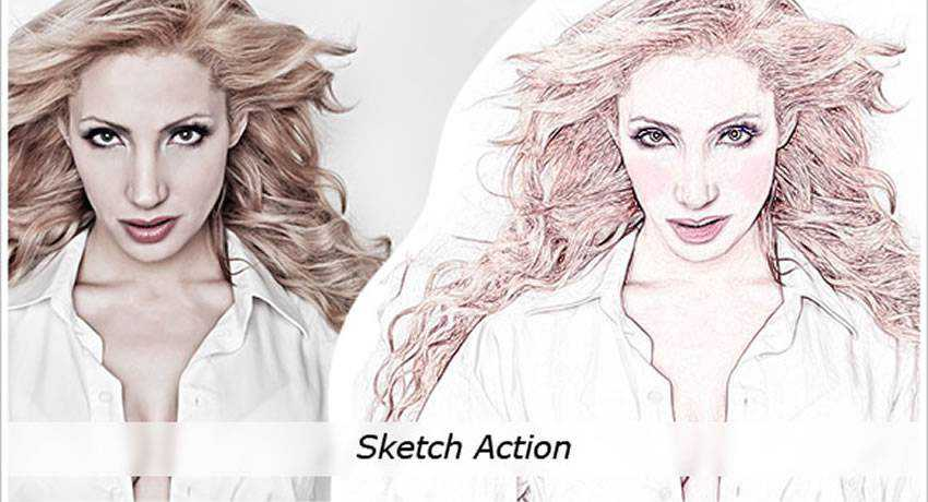 pencil sketching effects photo free photoshop actions
