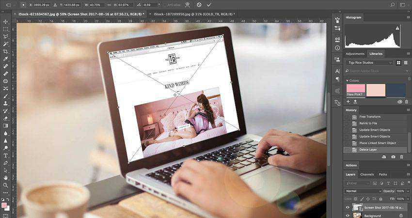 How to Design a Creative Project Mockup Template adobe photoshop tutorial