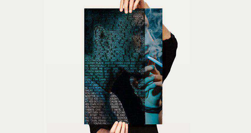 How to Create a Text Portrait Poster Mockup adobe photoshop tutorial