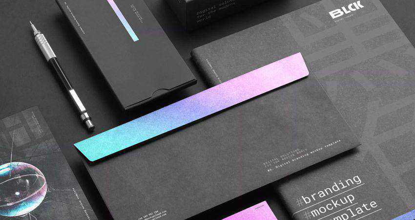 Blck Branding Mockup Kit adobe photoshop