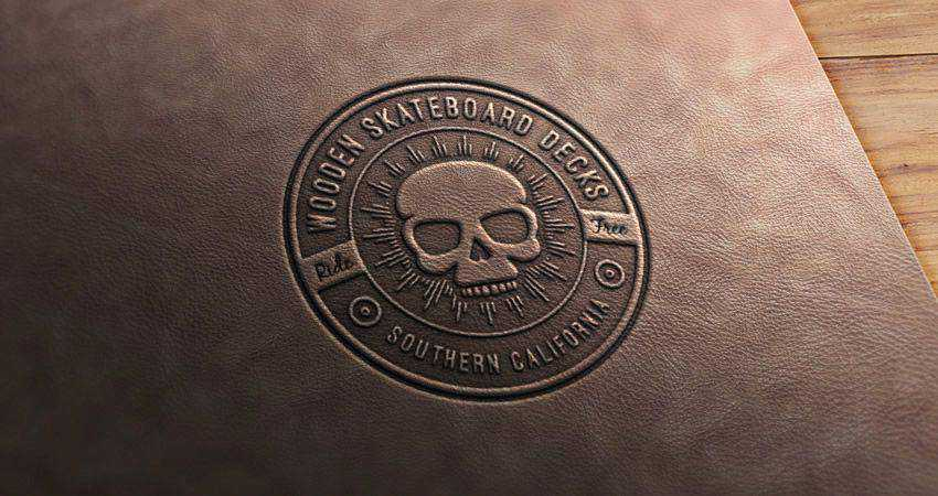 How to Create a Leather Stamp Logo Mockup adobe photoshop tutorial