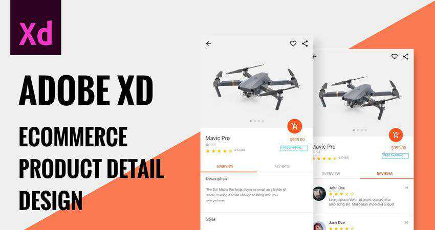 Ecommerce Product Detail Design adobe xd tutorial