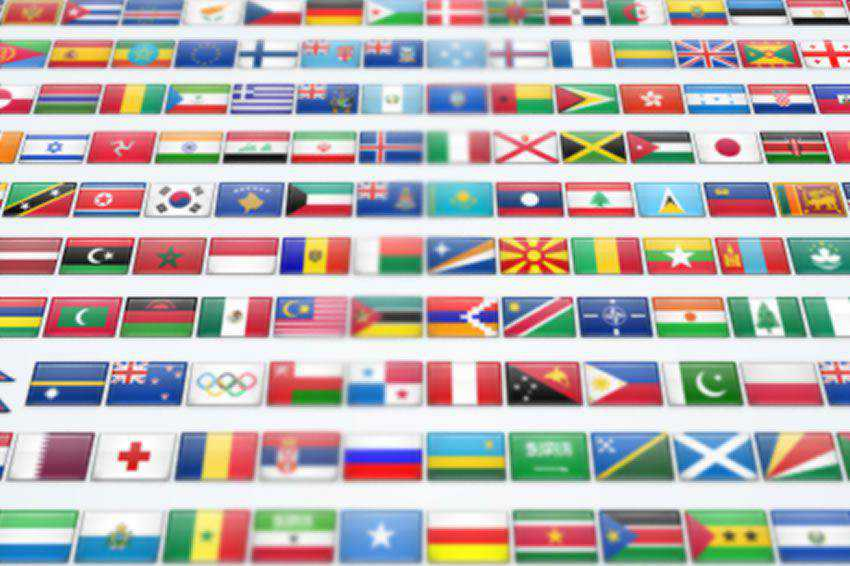2600 Flat Shiny Flag Icon Set free banner nation country png