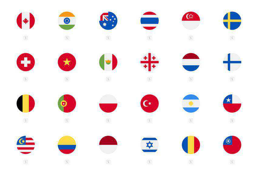 260 Rounded Square Rectangular Country Flag Icons free icon set banner nation country psd eps png svg