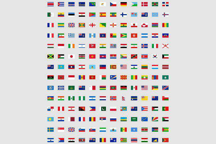 free 244 Flat World Flag Icon Set banner nation country png