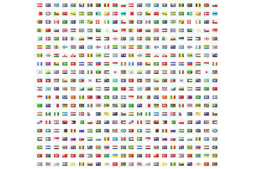 famfamfam Mini Flag Icon Set banner nation country free gif png