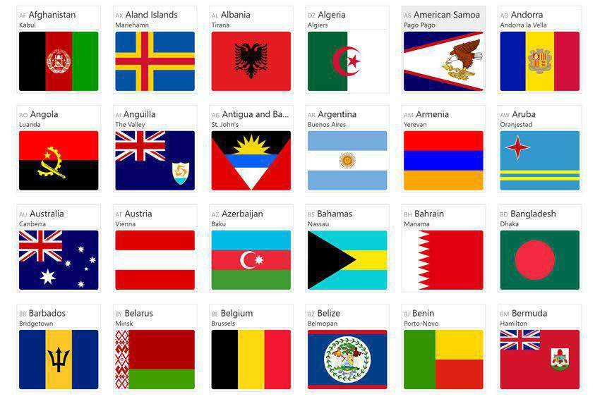 css free icon set banner nation country embed copy paste svg