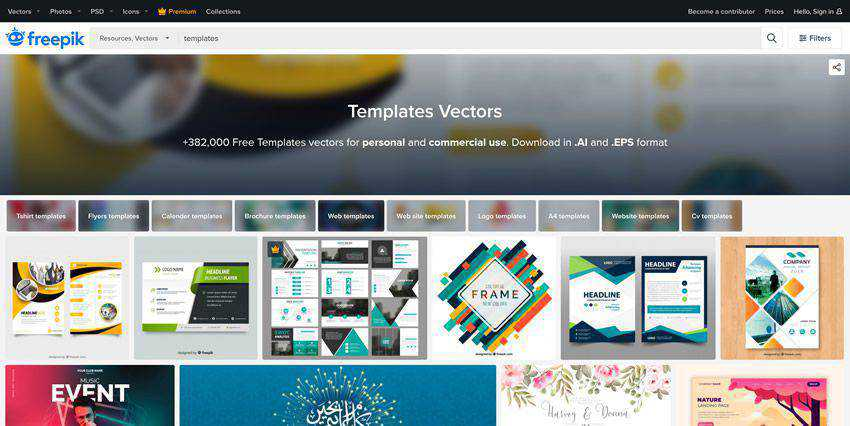 Freepik vector template free illustartor