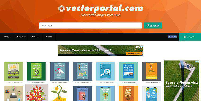 Vectorportal vector template free illustartor