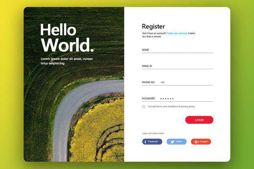 Web Login Form Design web design inspiration