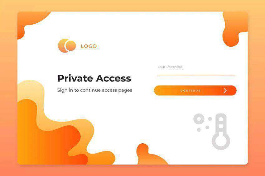 Login Page Screen 03 web design inspiration