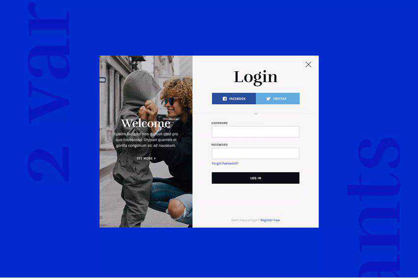 Login Registration Forms web design inspiration