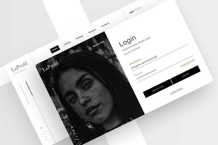 Minimal Login Page web design inspiration