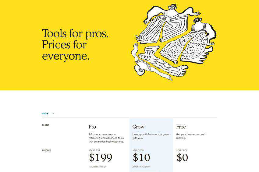 Mailchimp Pricing Page Web Design Inspiration