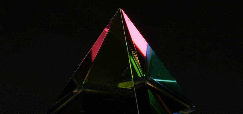 A glass prism.