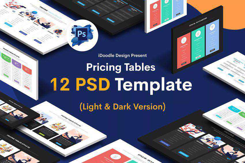 Pricing Tables PSD UI Kits Web Design Inspiration