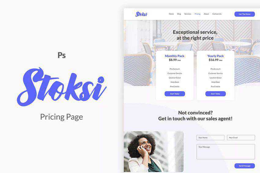 Stoksi Pricing Page Template Web Design Inspiration