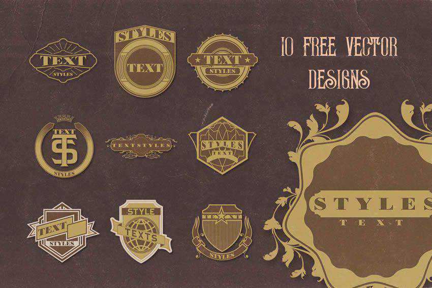 Vintage Vector Badges free template illustrator ai eps