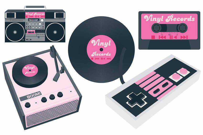 Vintage Music free vector template illustrator ai eps vintage
