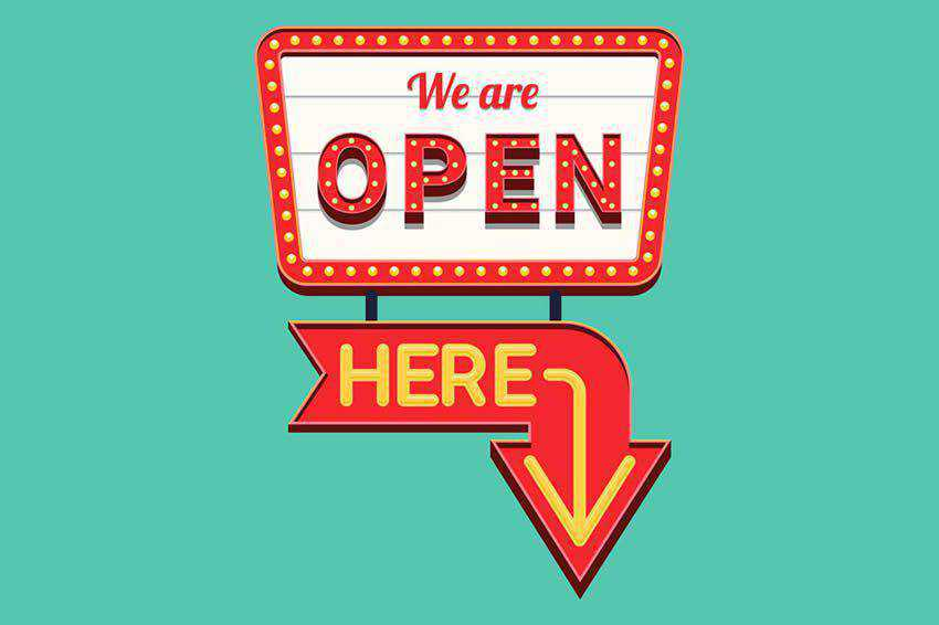 open sign free vector template illustrator ai eps vintage