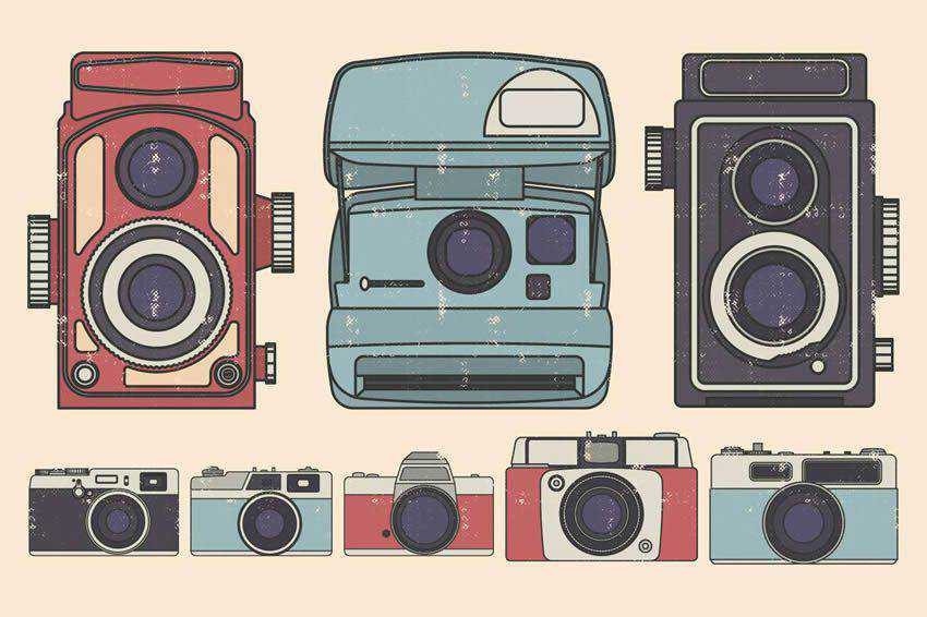 Vintage Camera Illustration free vector template illustrator ai eps vintage
