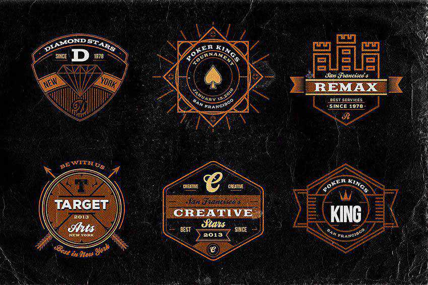 Retro Vintage Badges free vector template illustrator ai eps vintage