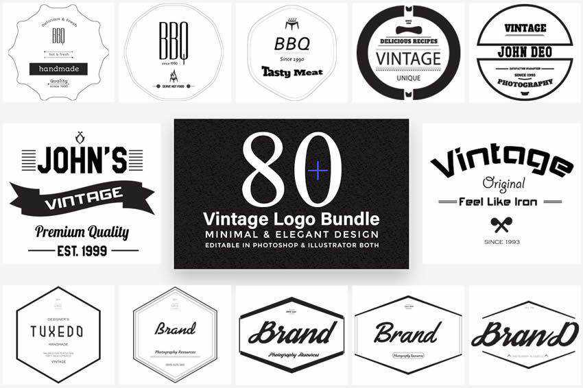 20 High Quality Free Retro Vintage Vector Templates