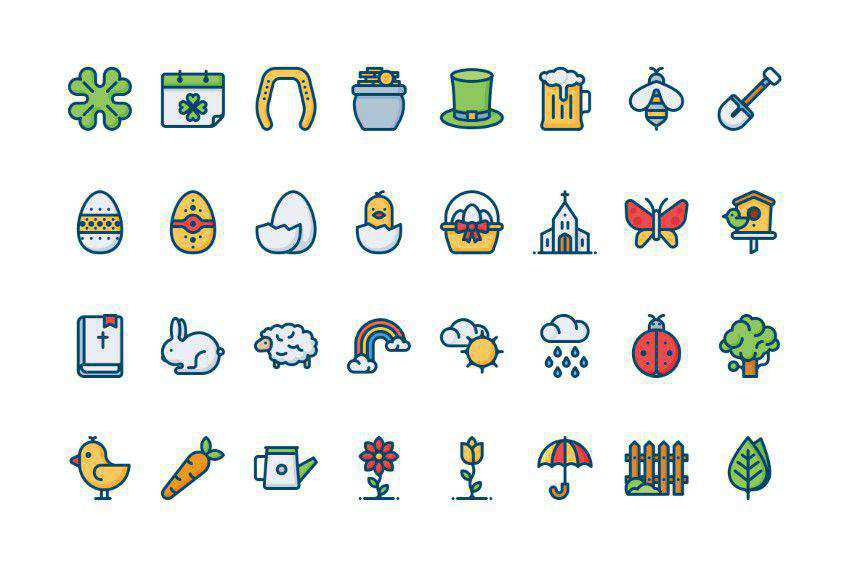 32 Spring icons