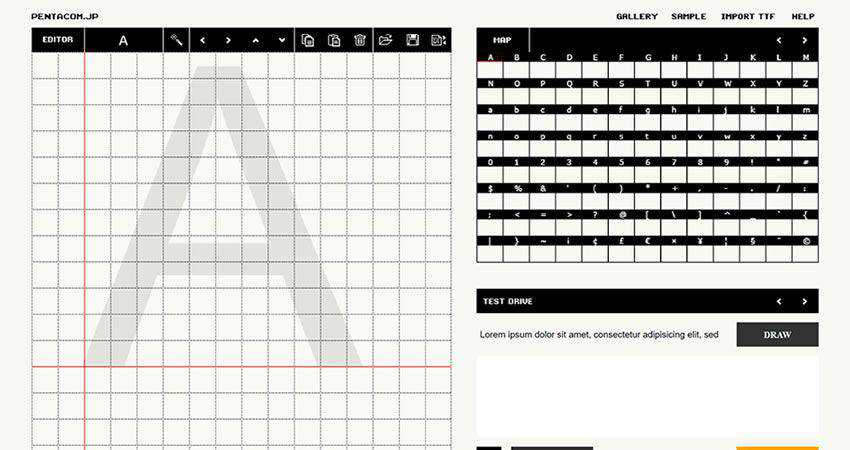 Pentacom Bit Font Maker