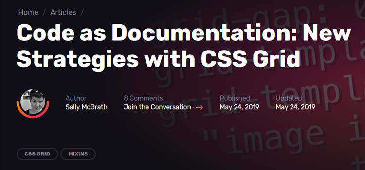 Code as Documentation: New Strategies with CSS Grid