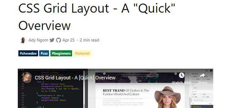 "CSS Grid Layout - A ""Quick"" Overview"