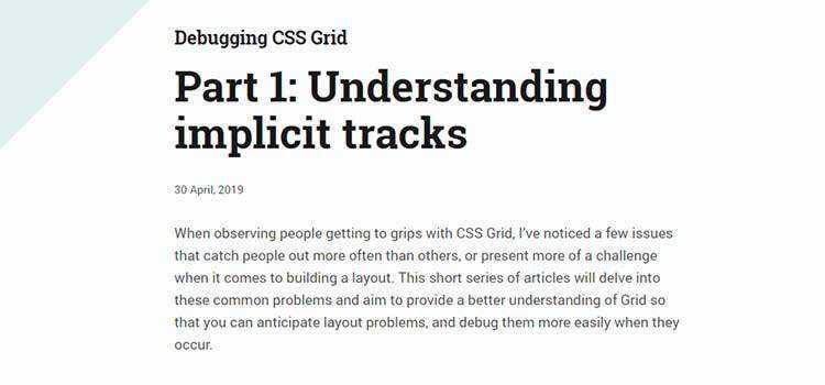 Debugging CSS Grid Part 1: Understanding implicit tracks