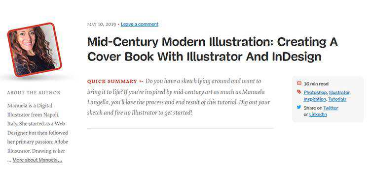 Mid-Century Modern Illustration: Creating A Cover Book With Illustrator And InDesign