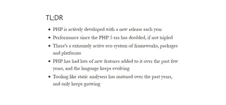 PHP in 2019