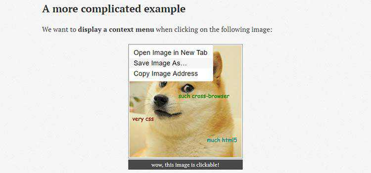 A pure CSS onclick context menu