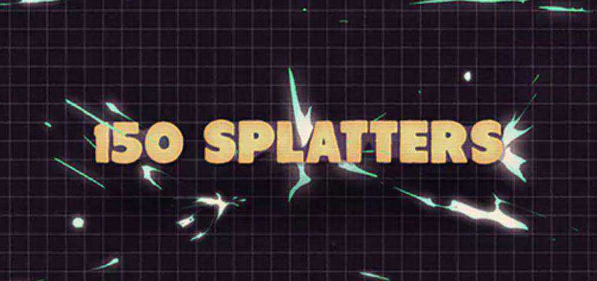 150 Splatter Animation Templates