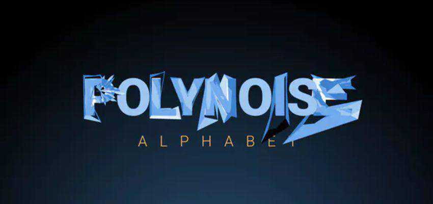 PolyNoise Alphabet - Animated Typeface Template
