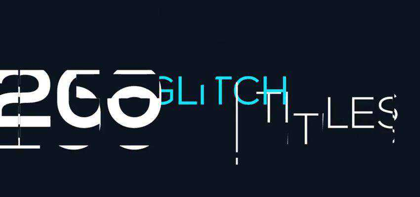 Minimal Glitch Titles Pack
