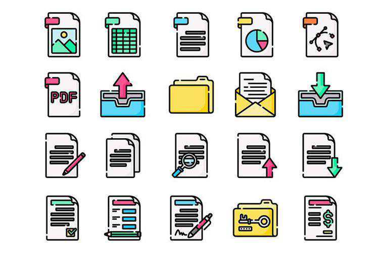 The Free Document Folder Icon Collection in SVG & PNG Formats