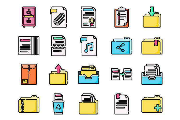 Freebie: Document Folder Icon Collection (SVG & PNG)