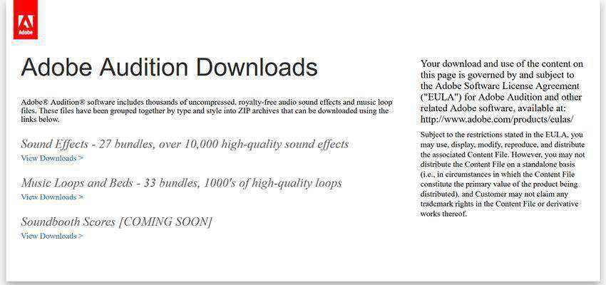 Adobe Audition Downloads