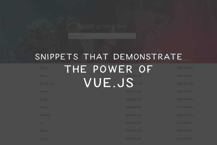 Snippets That Demonstrate the Power of Vue.js