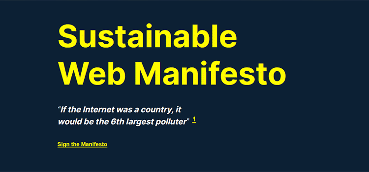 Sustainable Web Manifesto