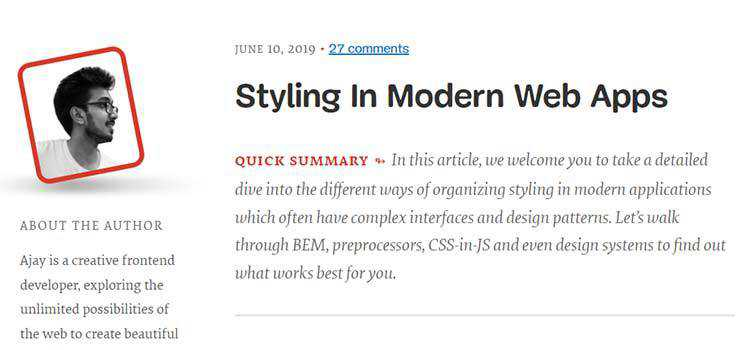 Styling In Modern Web Apps