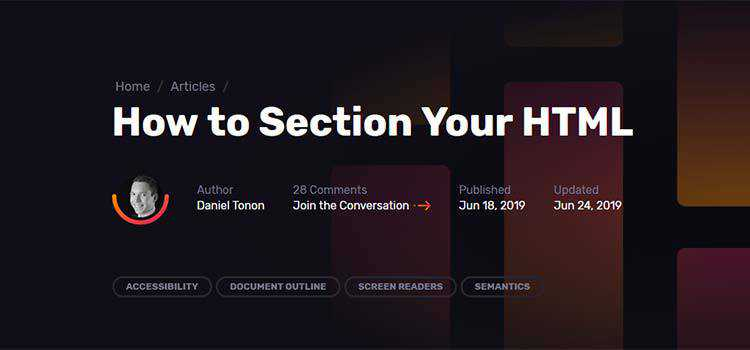 How to Section Your HTML