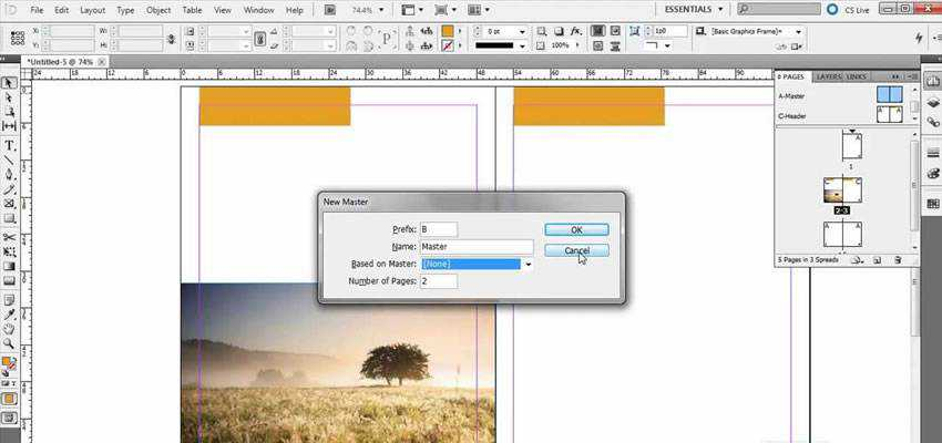Creating Applying Master Pages InDesign